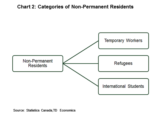 Chart 2: Categories of non-permanent residents